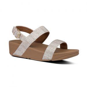Lottie Glitter Stripe Back-Trap Sandals