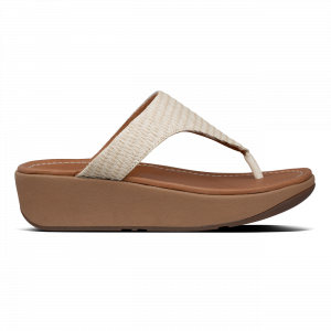 Imogen Basket Weave Toe Thongs