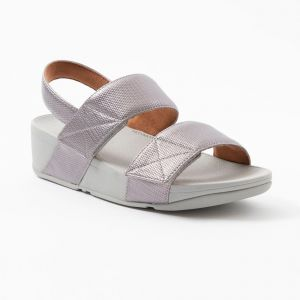 Mina Textured Glitz Back-Strap Sandals