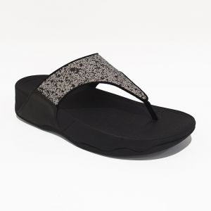 Lulu Glitter Splash Wide Fit Toe-post Sandals