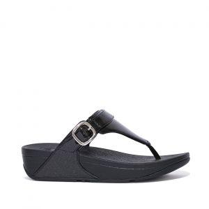 Lulu Glitter Adjustable Toe Post Sandals