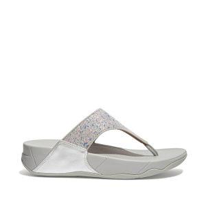 Lulu Glitter Splash Wide Fit Toe-post Sandals