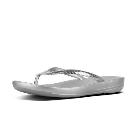 Iqushion Ergonomic Flip-Flops Mirror Metallics